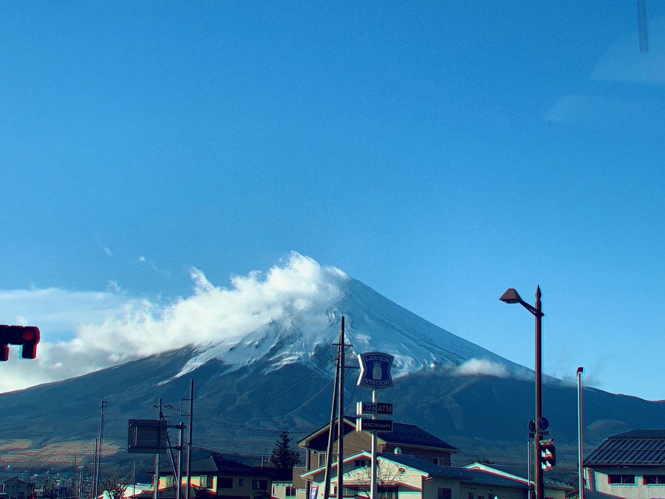冬の富士山の写真