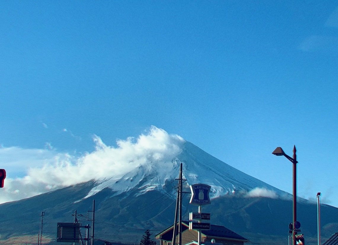 2018年12月撮影の富士山の写真
