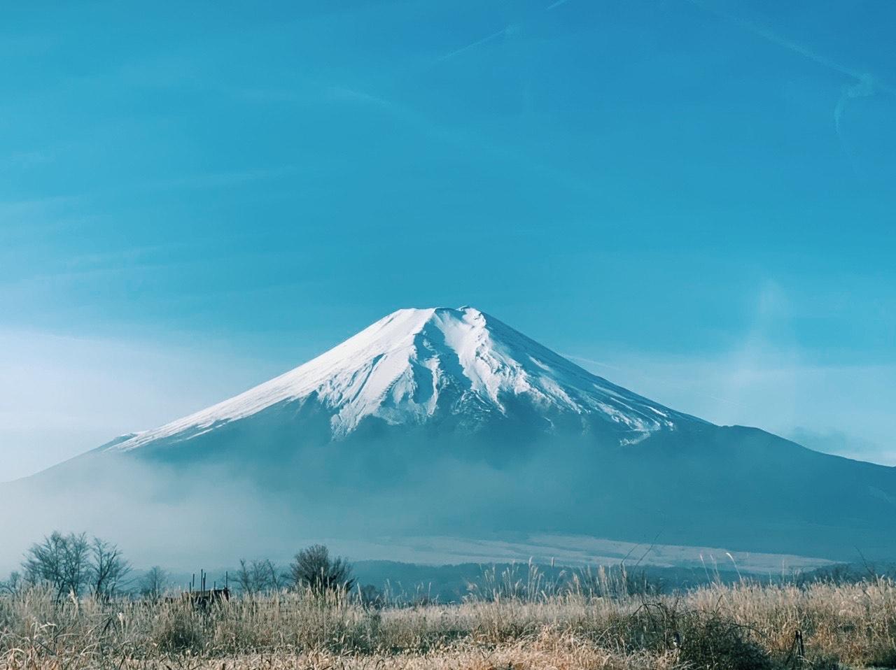 白銀の富士、富士山