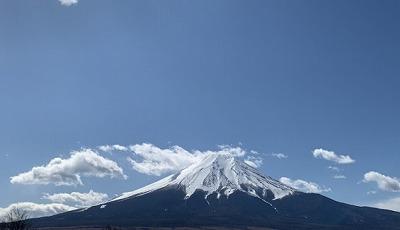 忍野から撮った富士山