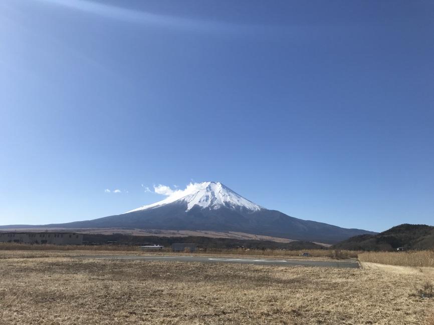 忍野村から望む富士山