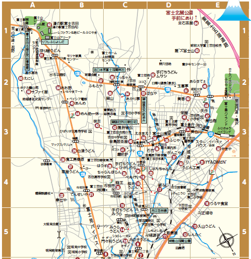 観光マップも富士山が基準!