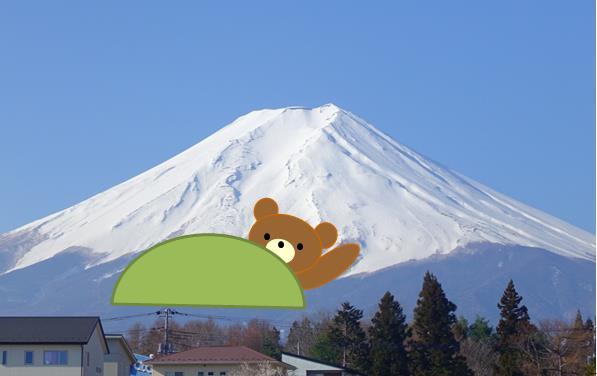 熊のような富士山の雪形:イメージ